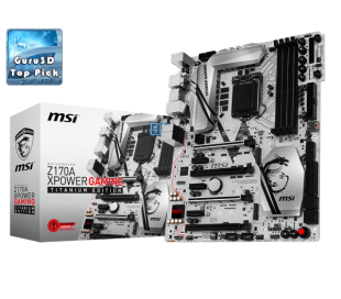 MSI Z170A XPOWER GAMING TITANIUM EDITION LGA 1151, 6th Gen, Intel® Z170 Express Chipset