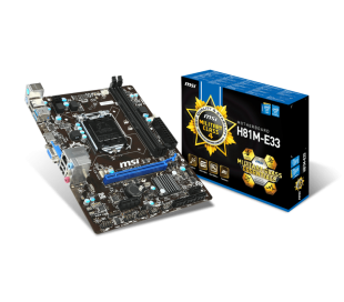MSI H81M-E33 4th Gen. LGA 1150 Socket Mainboard